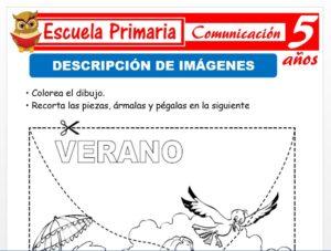 Modelo de la Ficha de Descripción de imágenes para Niños de 5 Años