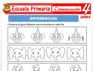Modelo de la Ficha de Diferencias para Niños de 4 Años