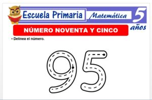 Modelo de la Ficha de El nùmero 95 para Niños de 5 Años