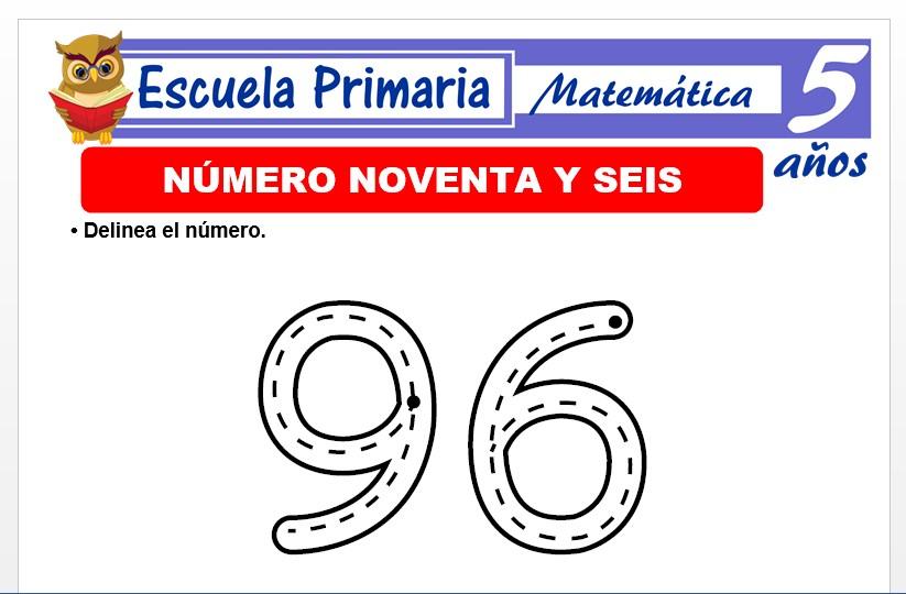 Modelo de la Ficha de El nùmero 96 para Niños de 5 Años