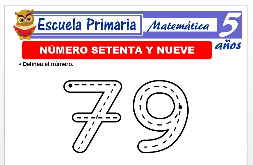 Modelo de la Ficha de El nùmero 79 para Niños de 5 Años