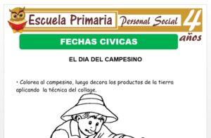 Modelo de la Ficha de Fechas cívicas para Niños de 4 Años