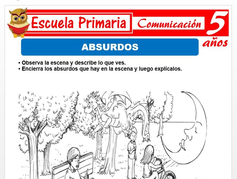 Modelo de la Ficha de Fichas de absurdos para Niños de 5 Años