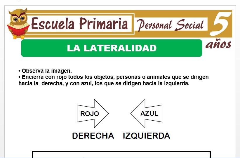 Modelo de la Ficha  de lateralidad para Niños de 5 Años