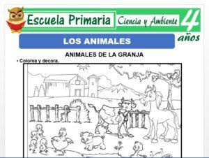 Modelo de la Ficha de Ficha de los animales para Niños de 4 Años