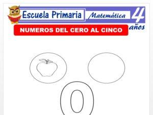Modelo de la Ficha de Números del cero al cinco para Niños de 4 Años