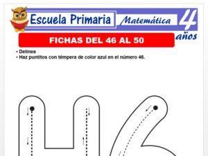 Modelo de la Ficha de Fichas del 46 al 50 para Niños de 4 Años