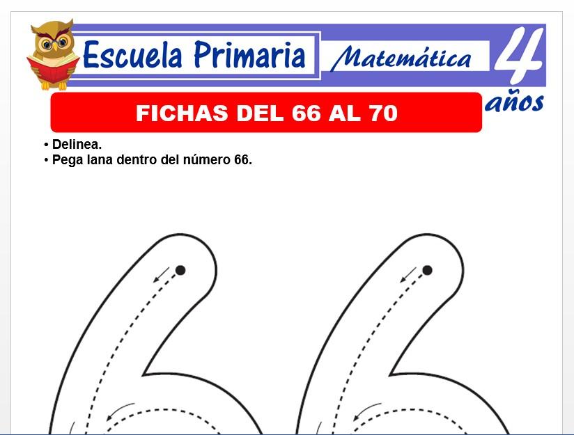 Modelo de la Ficha de Fichas del 66 al 70 para Niños de 4 Años