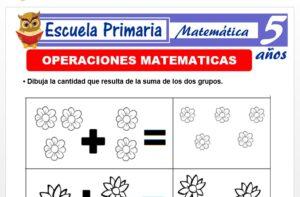 Modelo de la Ficha de Fichas de operaciones matemáticas para Niños de 5 Años