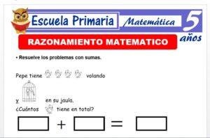 Modelo de la Ficha de Fichas de razonamiento matemàtico para Niños de 5 Años