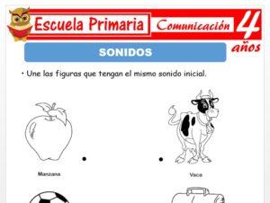 Modelo de la Ficha de Fichas de sonido para Niños de 4 Años