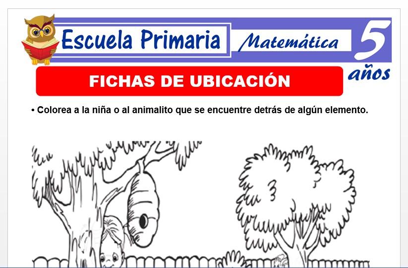 Modelo de la Ficha de ubicaciòn para Niños de 5 Años