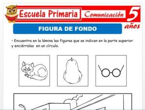 Modelo de la Ficha de Figura de fondo para Niños de 5 Años