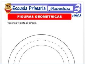 Modelo de la Ficha de Figuras geométricas para Niños de 3 Años