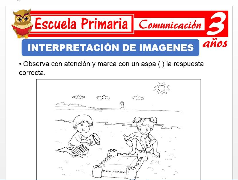 Modelo de la Ficha de Interpretaciòn de imágenes para Niños de 3