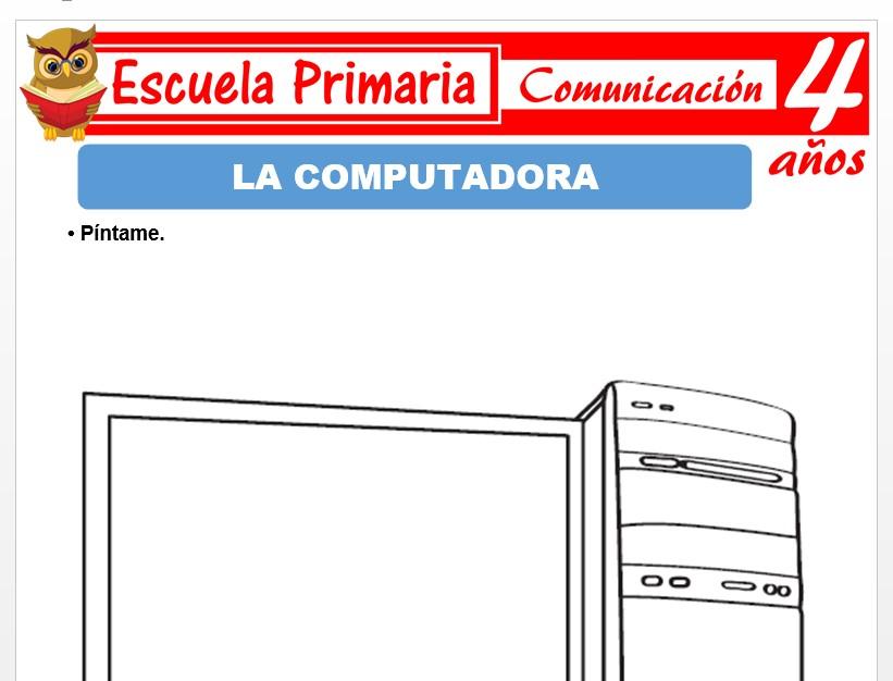 Modelo de la Ficha de La computadora para Niños de 4 Años