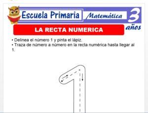 Modelo de la Ficha de La recta numérica para Niños de 3