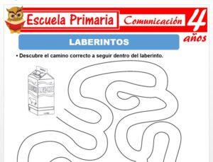 Modelo de la Ficha de Laberintos para Niños de 4 Años