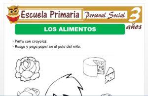 Modelo de la Ficha de Los alimentos para Niños de 3 Años