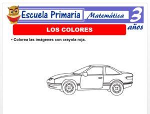 Modelo de la Ficha de Los colores para Niños de 3 Años
