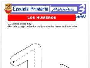 Modelo de la Ficha de Los números para Niños de 3 Años