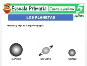 Modelo de la Ficha de Los planetas para Niños de 5 Años