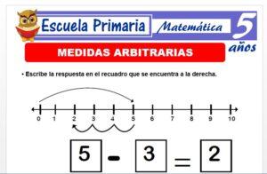 Modelo de la Ficha de Medidas arbitrarias para Niños de 5 Años