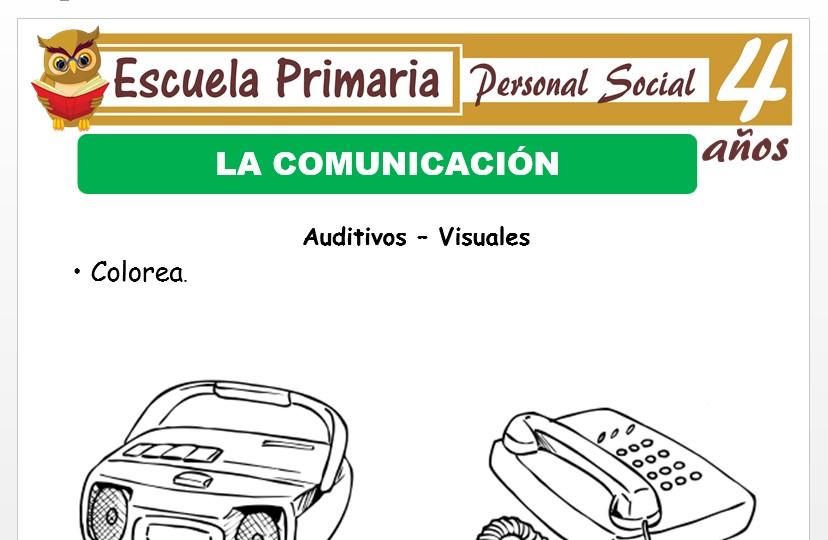 Modelo de la Ficha de Medios de comunicación para Niños de 4 Años
