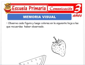 Modelo de la Ficha de Memoria visual para Niños de 3 Años