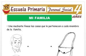 Modelo de la Ficha de Mi familia para Niños de 4 Años