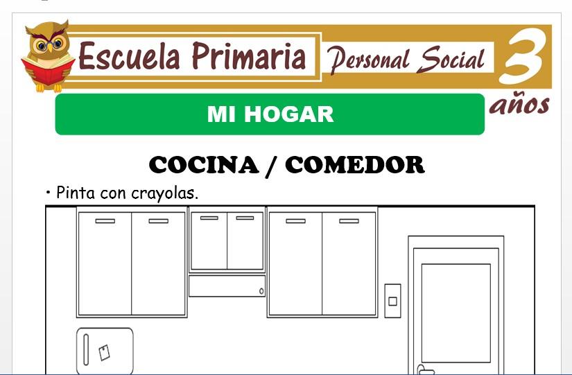 Modelo de la Ficha de Mi hogar para Niños de 3 Años