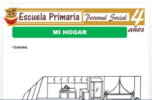 Modelo de la Ficha de Mi hogar para Niños de 4 Años