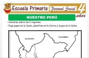 Modelo de la Ficha de Nuestro Perú para Niños de 4 Años