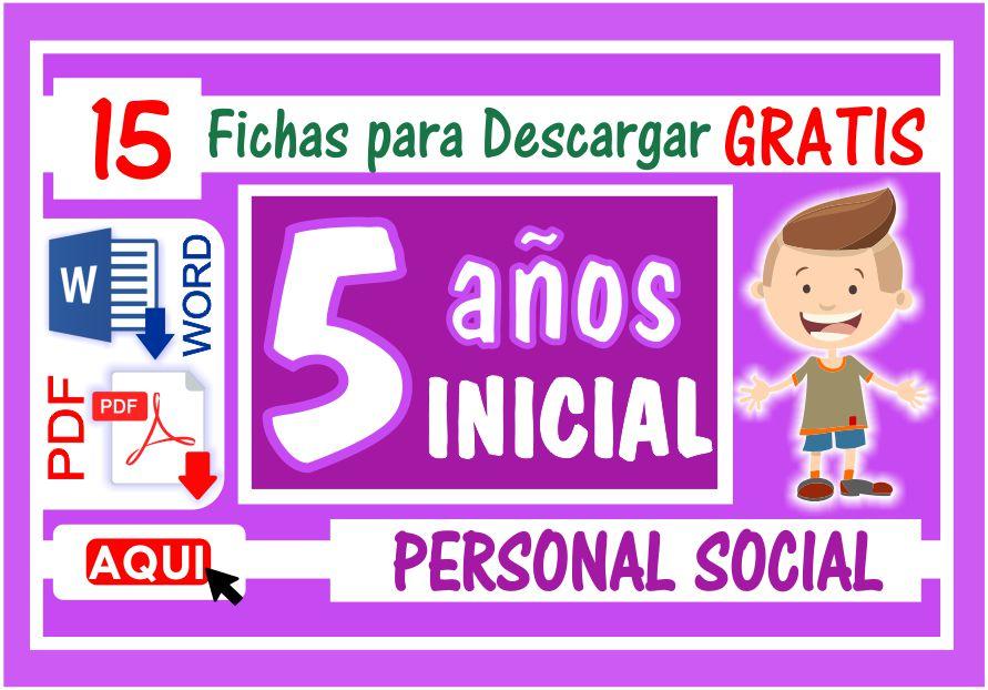 Personal Social para Niños de Cinco Años