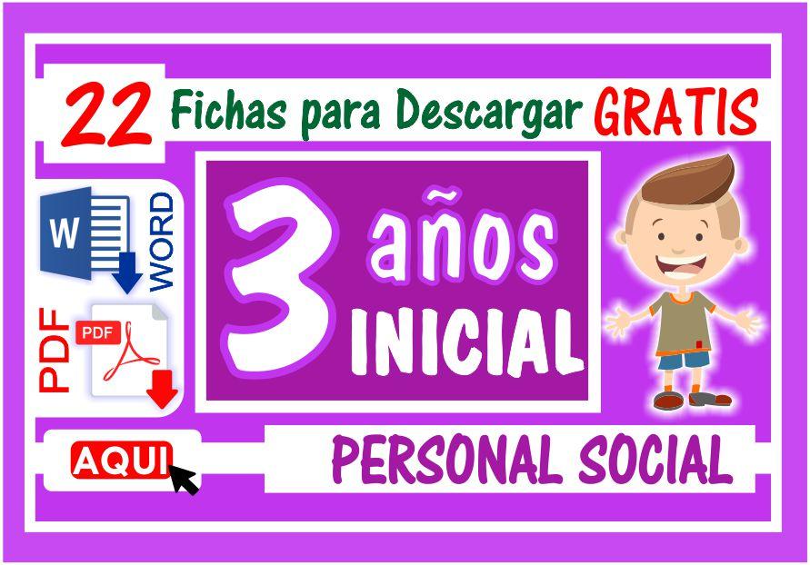 Personal Social para Niños de Tres Años