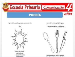 Modelo de la Ficha de Poesía para Niños de 4 Años