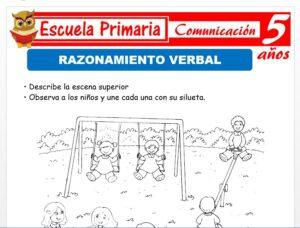 Modelo de la Ficha de Razonamiento verbal para Niños de 5 Años