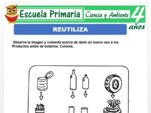 Modelo de la Ficha de Reutiliza para Niños de 4 Años