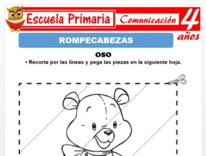 Modelo de la Ficha de Rompecabezas para Niños de 4 Años