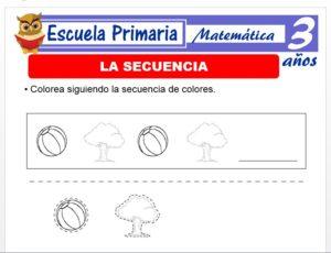 Modelo de la Ficha de La secuencia para Niños de 3