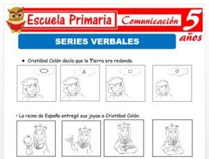 Modelo de la Ficha de Series verbales para Niños de 5 Años