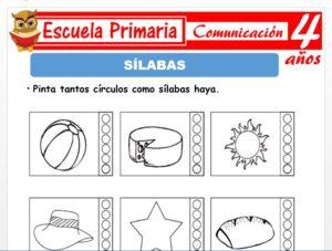 Modelo de la Ficha de Silabas para Niños de 4 Años