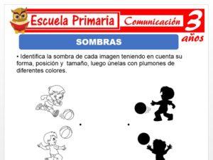 Modelo de la Ficha de Sombras para Niños de 3 Años