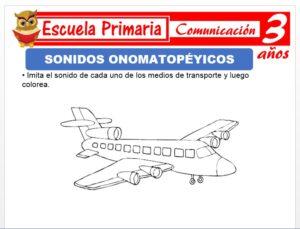 Modelo de la Ficha de Sonidos onomatopèyicos para Niños de 3 Años