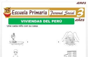 Modelo de la Ficha de Viviendas del Perù para Niños de 3 Años