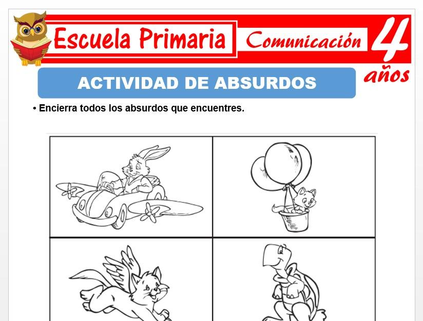 Modelo de la Ficha de Actividades de absurdos para Niños de 4 Años