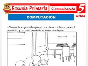 Modelo de la Ficha de Computación para Niños de 5 Años