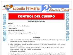 Modelo de la Ficha de Control del Cuerpo para Segundo de Primaria