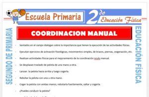 Modelo de la Ficha de Coordinación Manual para Segundo de Primaria