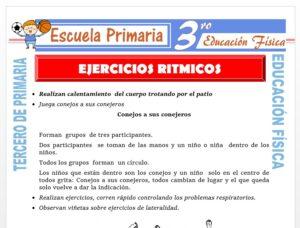 Modelo de la Ficha de Ejercicios Rítmicos para Tercero de Primaria